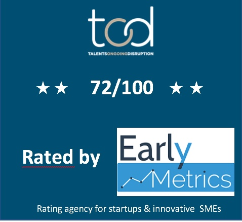 TOD is rated 72/100 by EARLYMETRICS